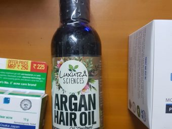 Luxura Sciences Argan Hair Oil 200 ml -Multipurpose oil and good for dry scalp-By shifa15