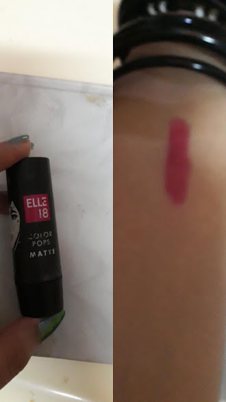 Elle 18 Color Pops Silk Lipstick-Elle 18 colorpops silk lipstick REVIEW-By niriksha_shetty