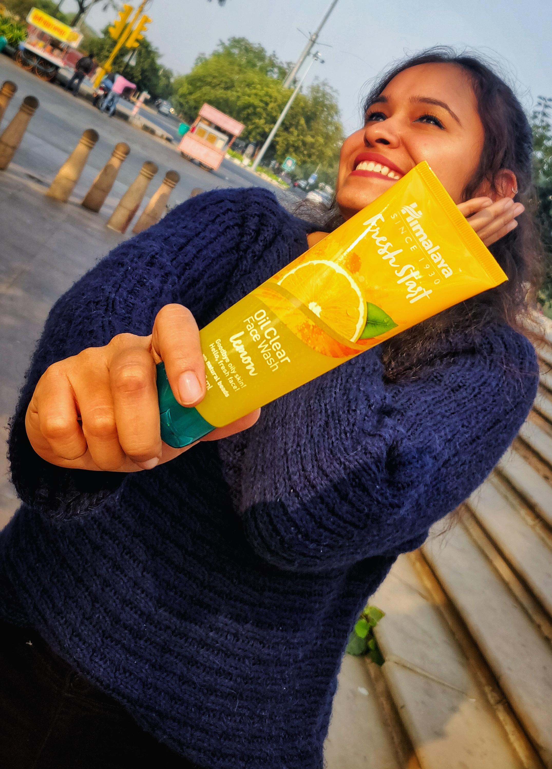 Himalaya Herbals Fresh Start Oil Clear Lemon Face Wash-Lemon freshness-By taniyajoshi13