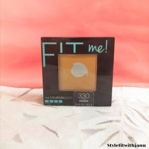 Maybelline Fit Me Matte And Poreless Powder -Wonderful compact powder for oily skin-By stylefitjanu
