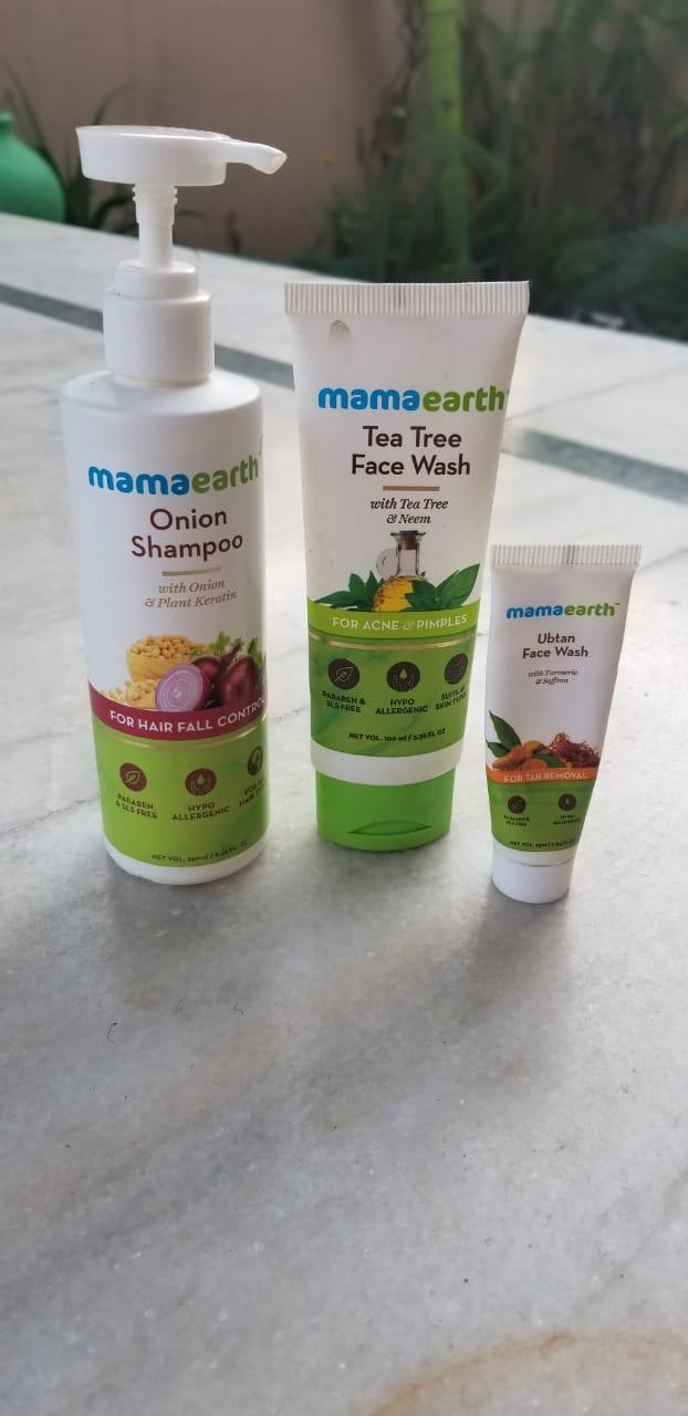 Mamaearth Onion Hair Fall Shampoo for Hair Growth & Hair Fall Control-Best product to control hairfall-By beauty_zircon
