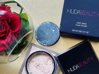 Huda Beauty Easy Bake Loose Powder -Perfect loose powder-By alice_swift
