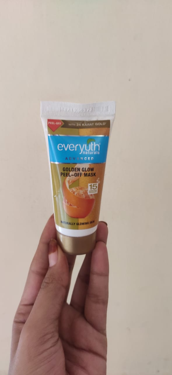 Everyuth Naturals Advanced Golden Glow Peel-off Mask -Instant golden glow-By zeba_s