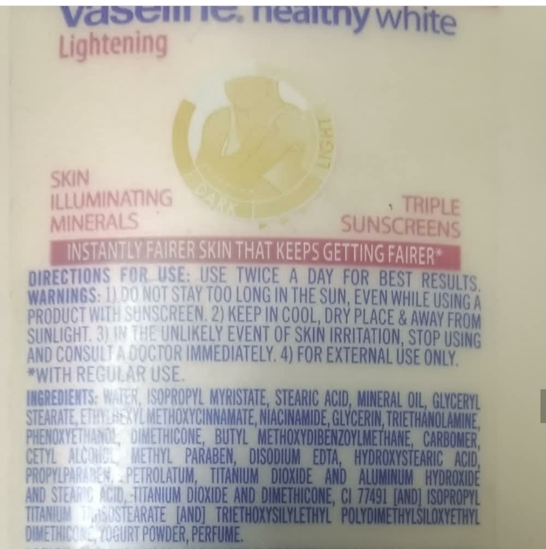 Vaseline Healthy White Lightening Body Lotion pic 1-Suitable for summers-By reviewingindian