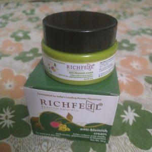 Richfeel Anti Blemish Cream -Makes skin spotless-By kalpana__vlog