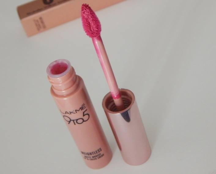 Lakme 9 To 5 Weightless Matte Mousse Lip & Cheek Color-Smooth finishing-By deenapaike13