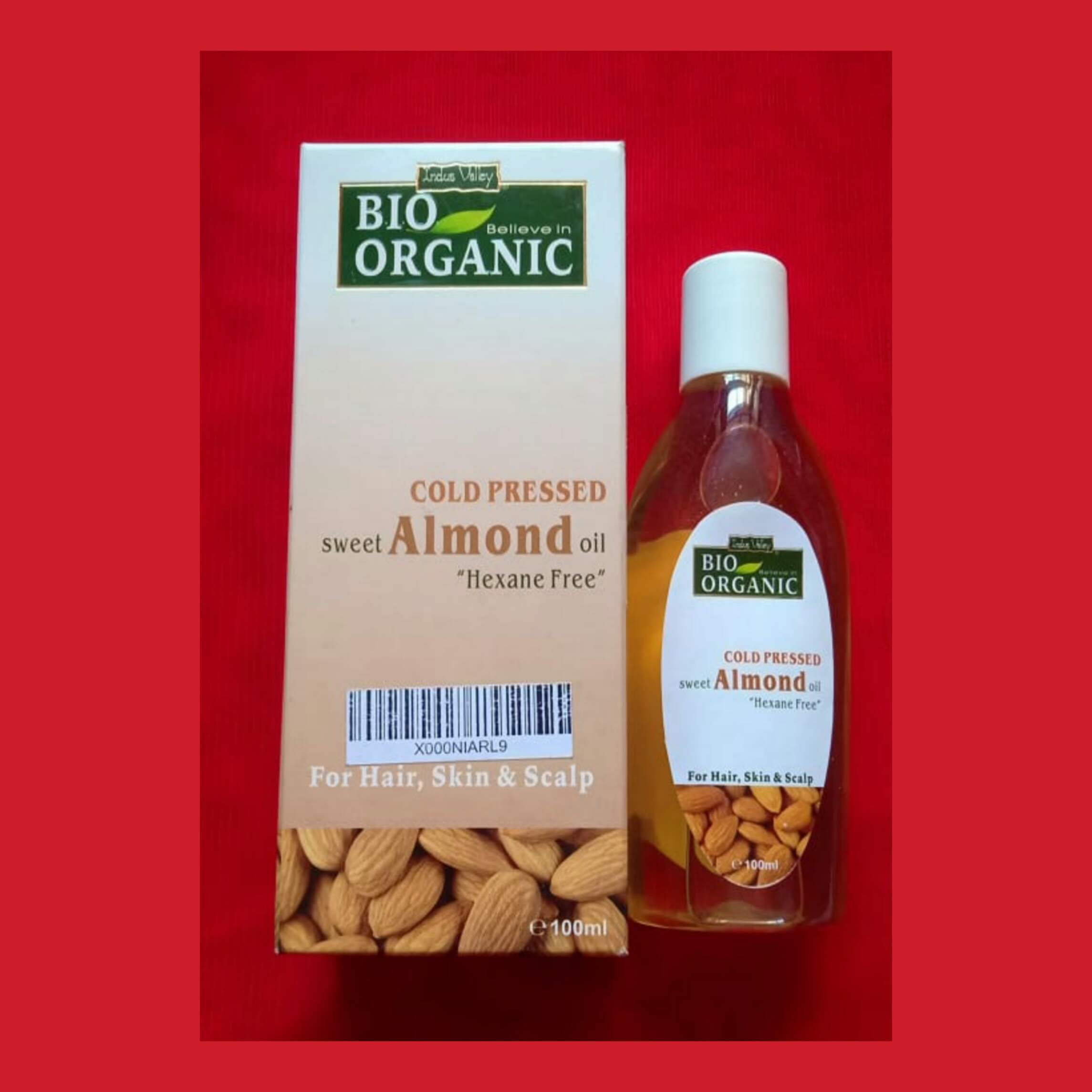 Indus Valley Cold Pressed Sweet Almond Oil -Works well for dry skin-By ruchikaudhwani
