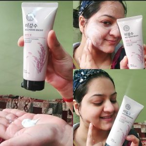 The Face Shop Rice Water Bright Cleansing Foam -Best Facewash for Brighteing and Clear Skin-By shruti_beautyblogger