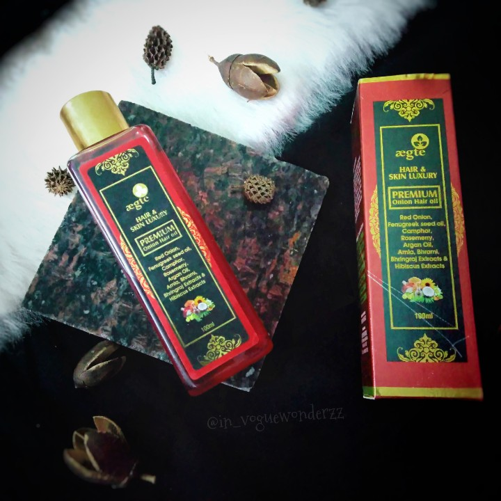 Aegte Premium Onion Hair Oil -Onion hair oil-By in_voguewonderzz