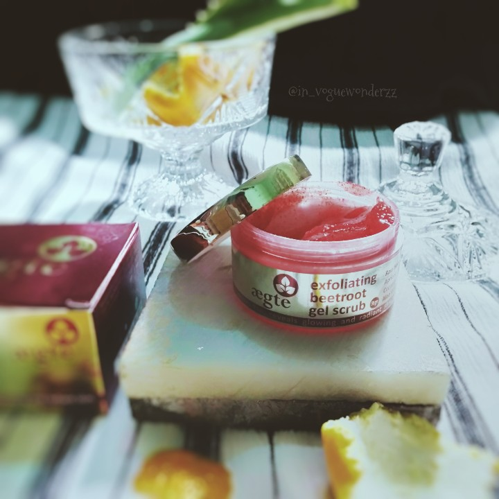 Aegte Exfoliating Beetroot Gel Scrub with Raw Honey Apricot and Cucumber-Exfoliating beetroot gel-By in_voguewonderzz