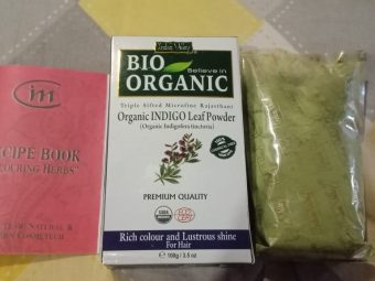 Indus Valley Bio Organic Indigo Leaf powder for Hair Coloring pic 3-organic hair colour-By beauty_bliss2020