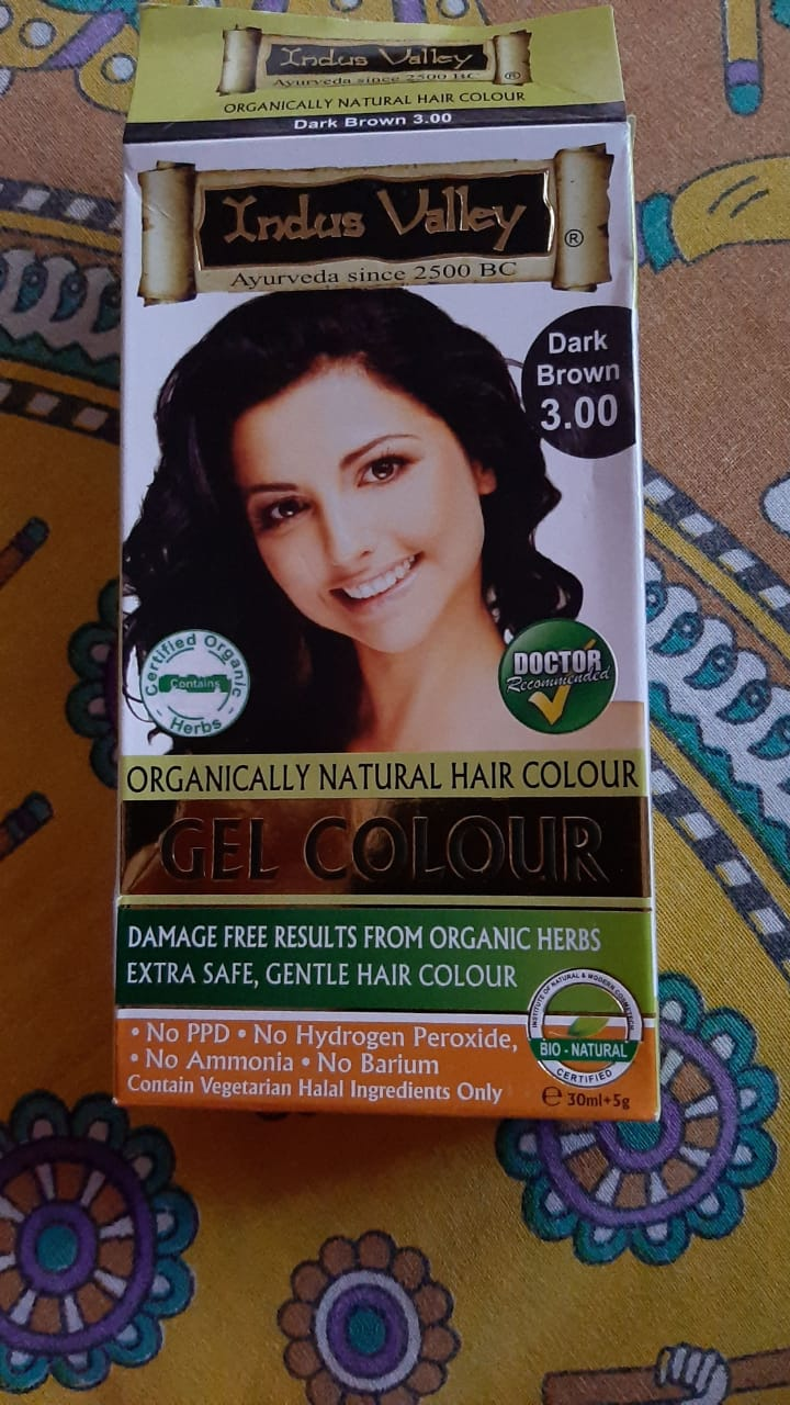 Indus Valley Gel Hair Colour – Natural Black 1.0 -Gel Hair color-By beauty_bliss2020
