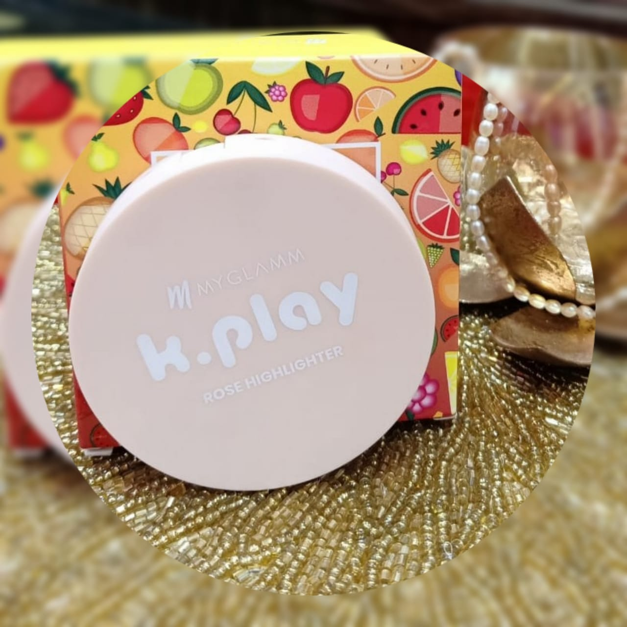 MyGlamm K.PLAY FLAVOURED HIGHLIGHTER – PINK ROSE-Highlighter with natural glow-By swatisingh-2