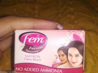 Fem Fairness Naturals Saffron Creme Bleach -Does the work-By prerna1121