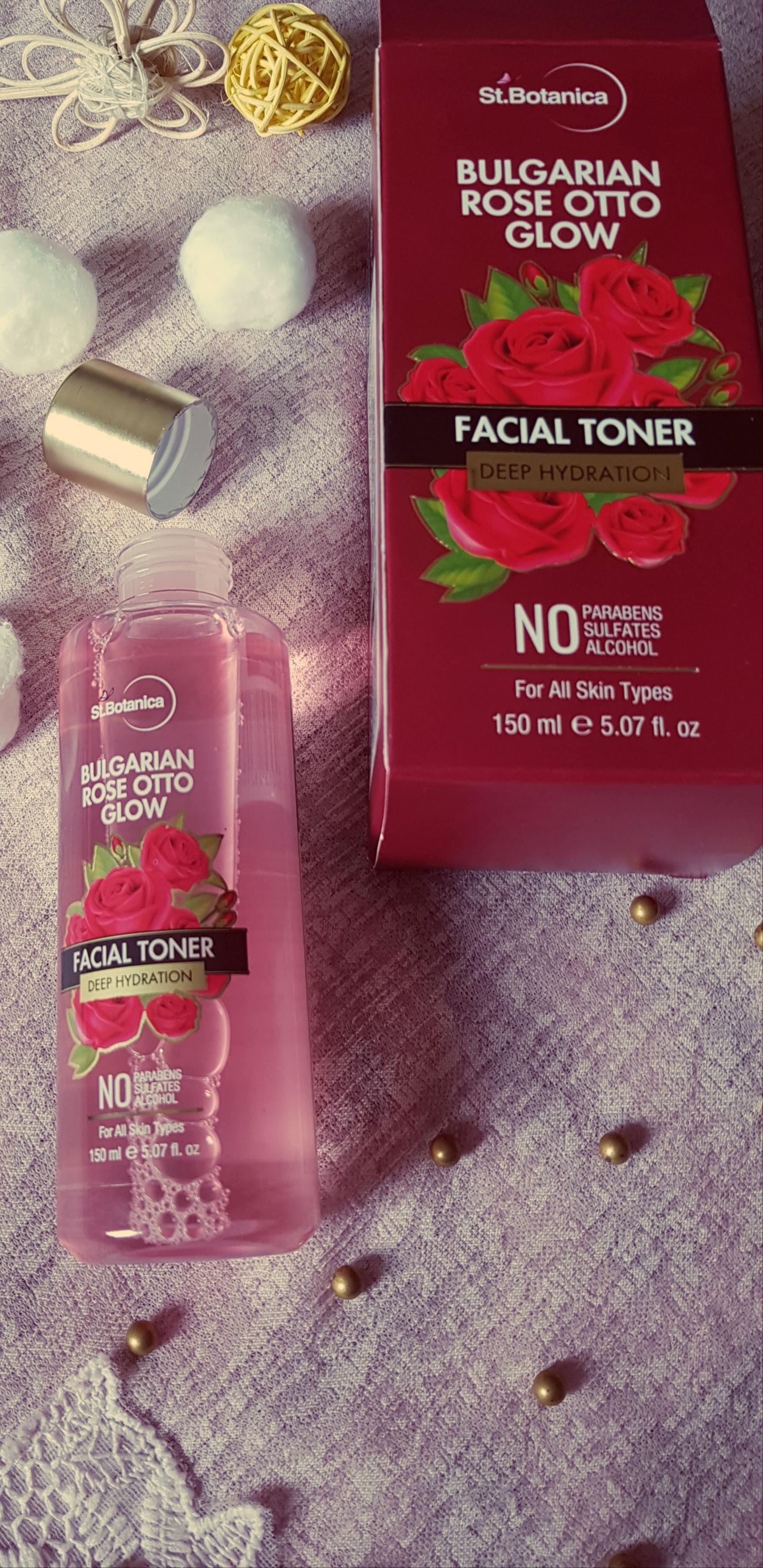 StBotanica Bulgarian Rose Otto Glow Deep Hydration Facial Toner-Amazing rose fragrance!-By mizbha378