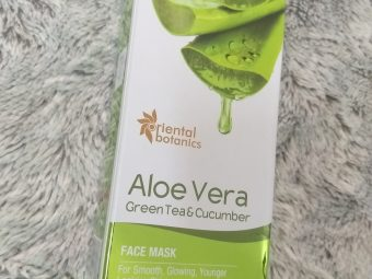 Oriental Botanics Aloe Vera, Green Tea & Cucumber Face Mask pic 1-For fresher and glowing looking skin-By beauty_mommies