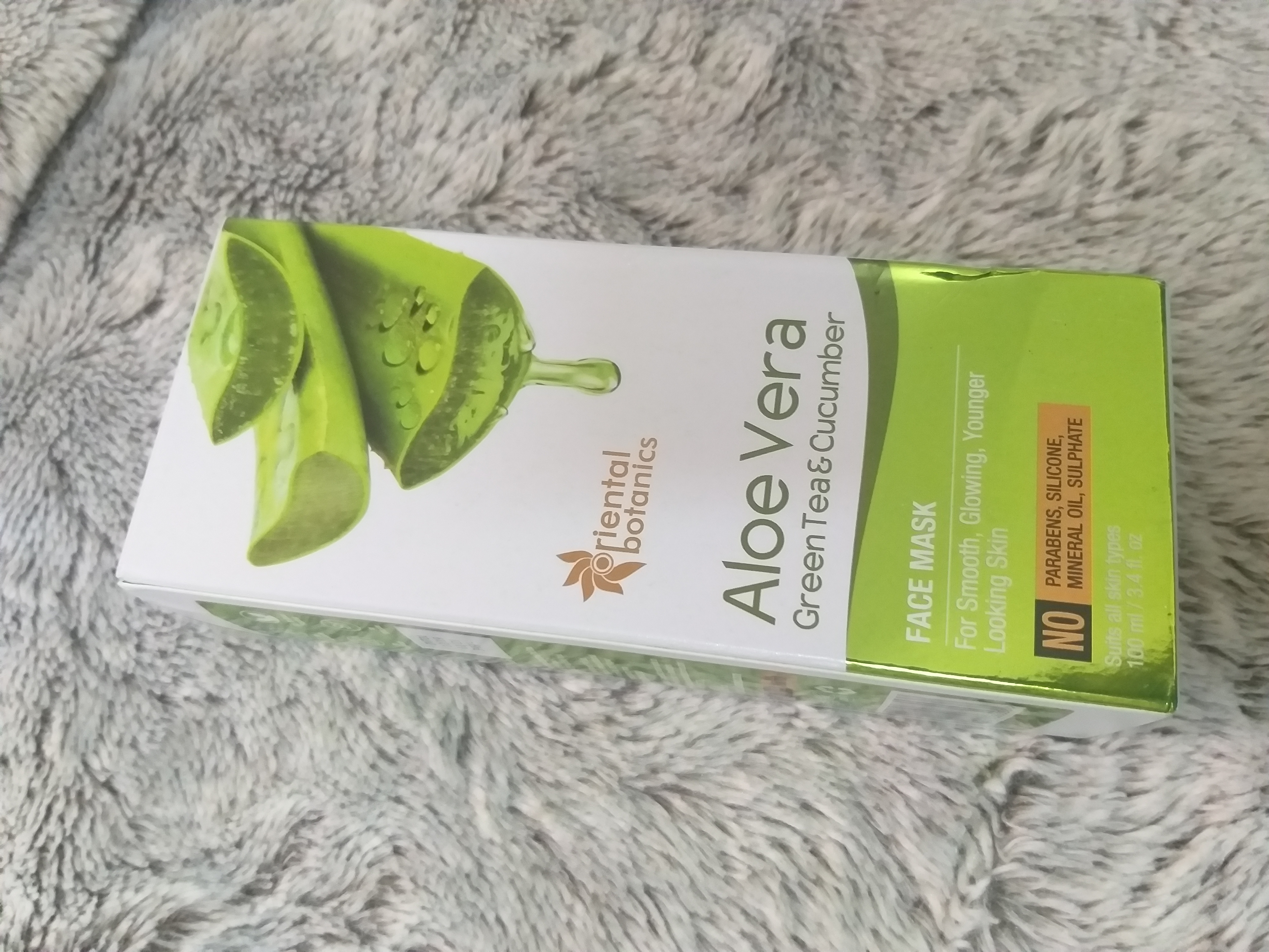Oriental Botanics Aloe Vera, Green Tea & Cucumber Face Mask-For fresher and glowing looking skin-By beauty_mommies-1