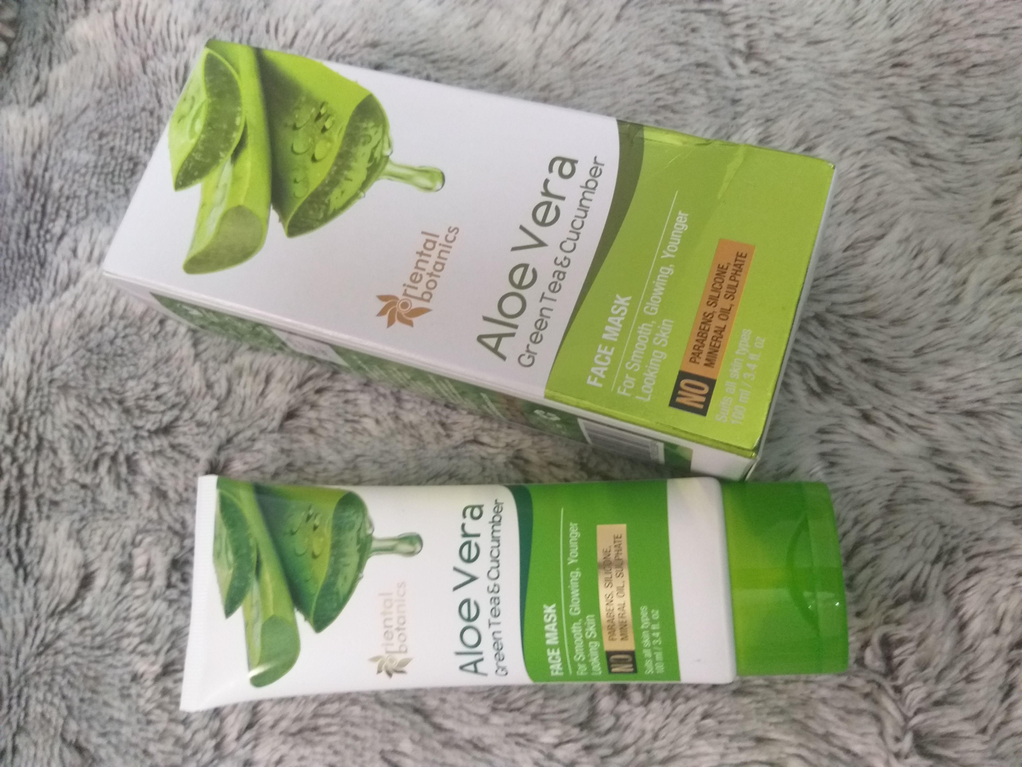 Oriental Botanics Aloe Vera, Green Tea & Cucumber Face Mask-For fresher and glowing looking skin-By beauty_mommies-2