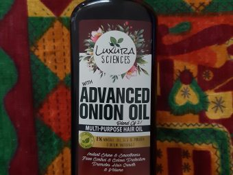 Luxura Sciences Advanced Onion Oil 250 ml -One Stop Solution for All Hair Problems-By nidhi_agarwal_0