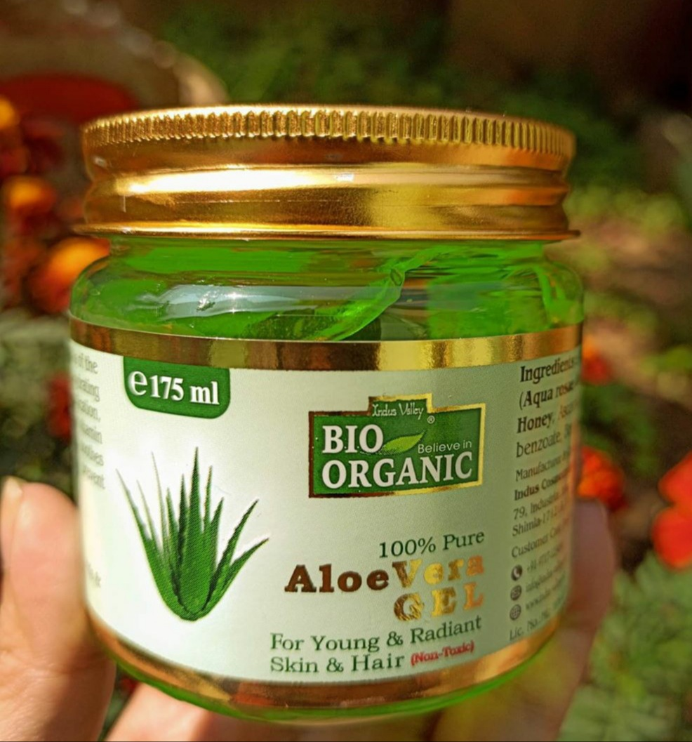 Indus Valley Bio Organic 100% Pure Aloe Vera Gel -Must Try this Aloe vera gel-By manpreet1