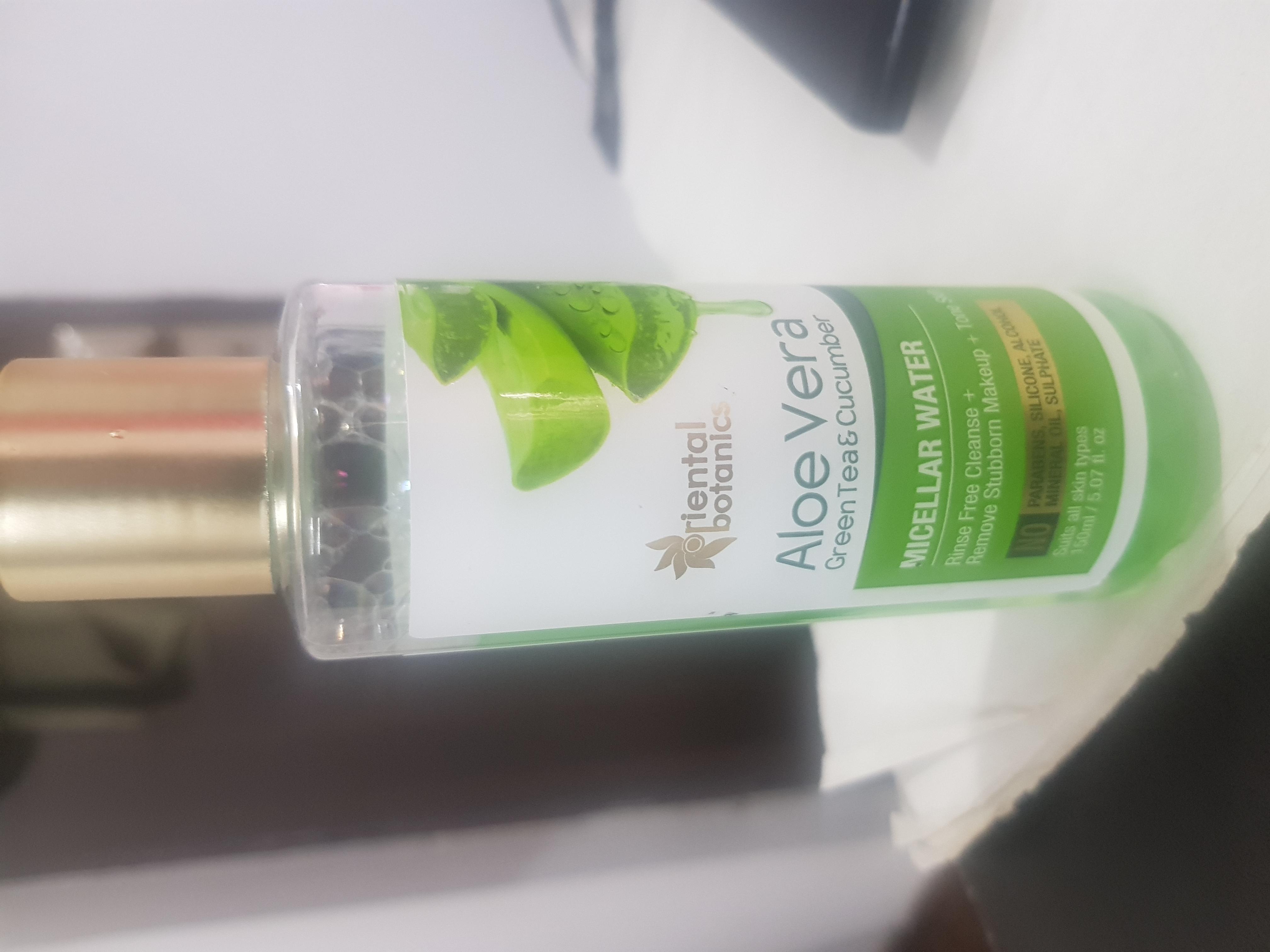 Oriental Botanics Aloe Vera, Green Tea & Cucumber Micellar Water-A holy grail for everyday makeup users!-By vasundhra_khatter-2