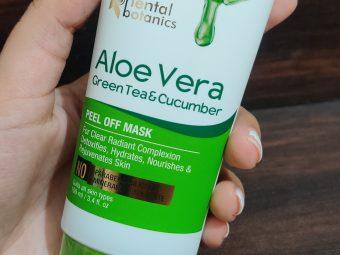 Oriental Botanics Aloe Vera, Green Tea & Cucumber Peel Off Mask pic 3-ONE OF THE BEST PEEL OFF MASK!!-By glitterlife_diksha