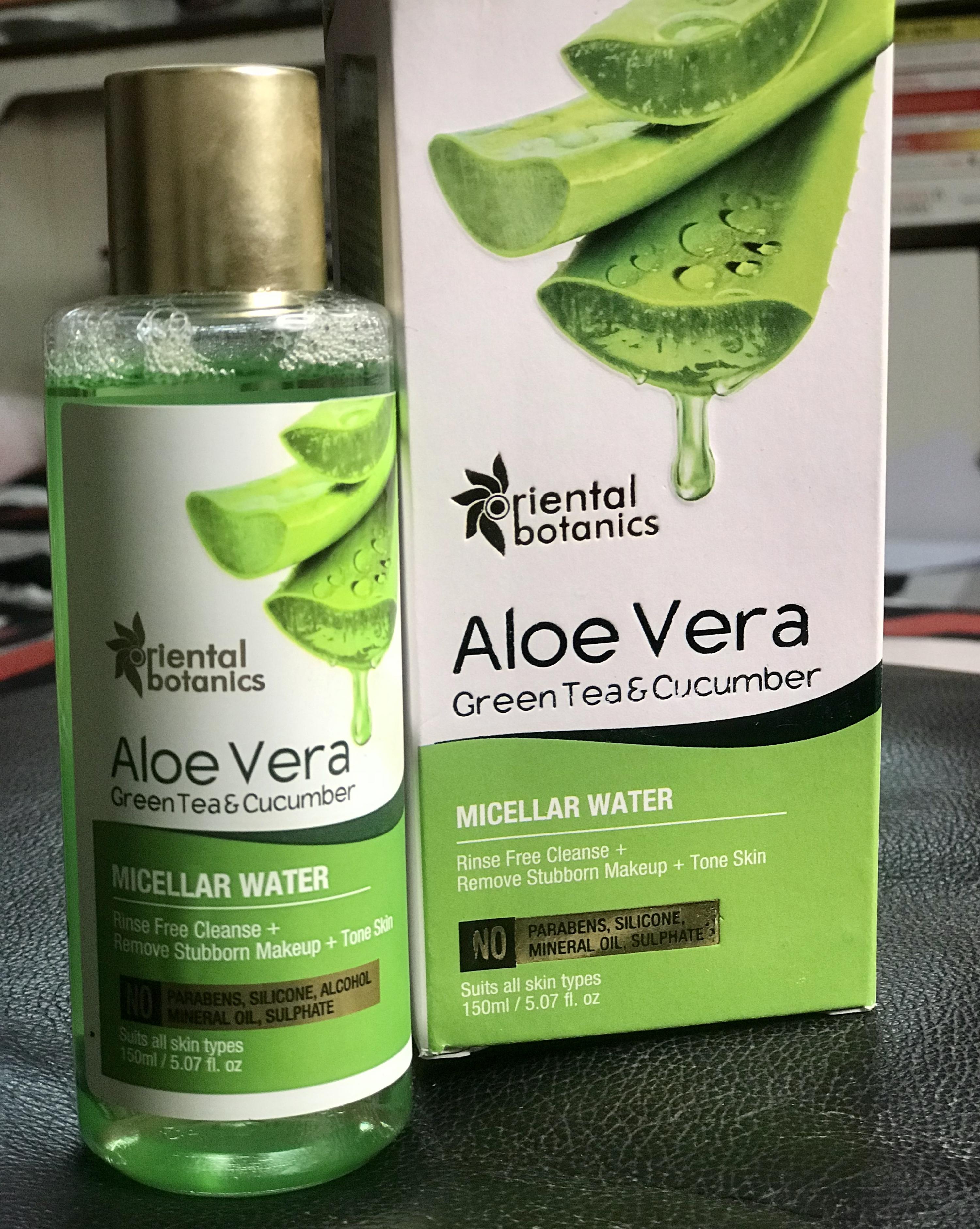 Oriental Botanics Aloe Vera, Green Tea & Cucumber Face Toner pic 2-Highly Recommended-By himanshiahuja