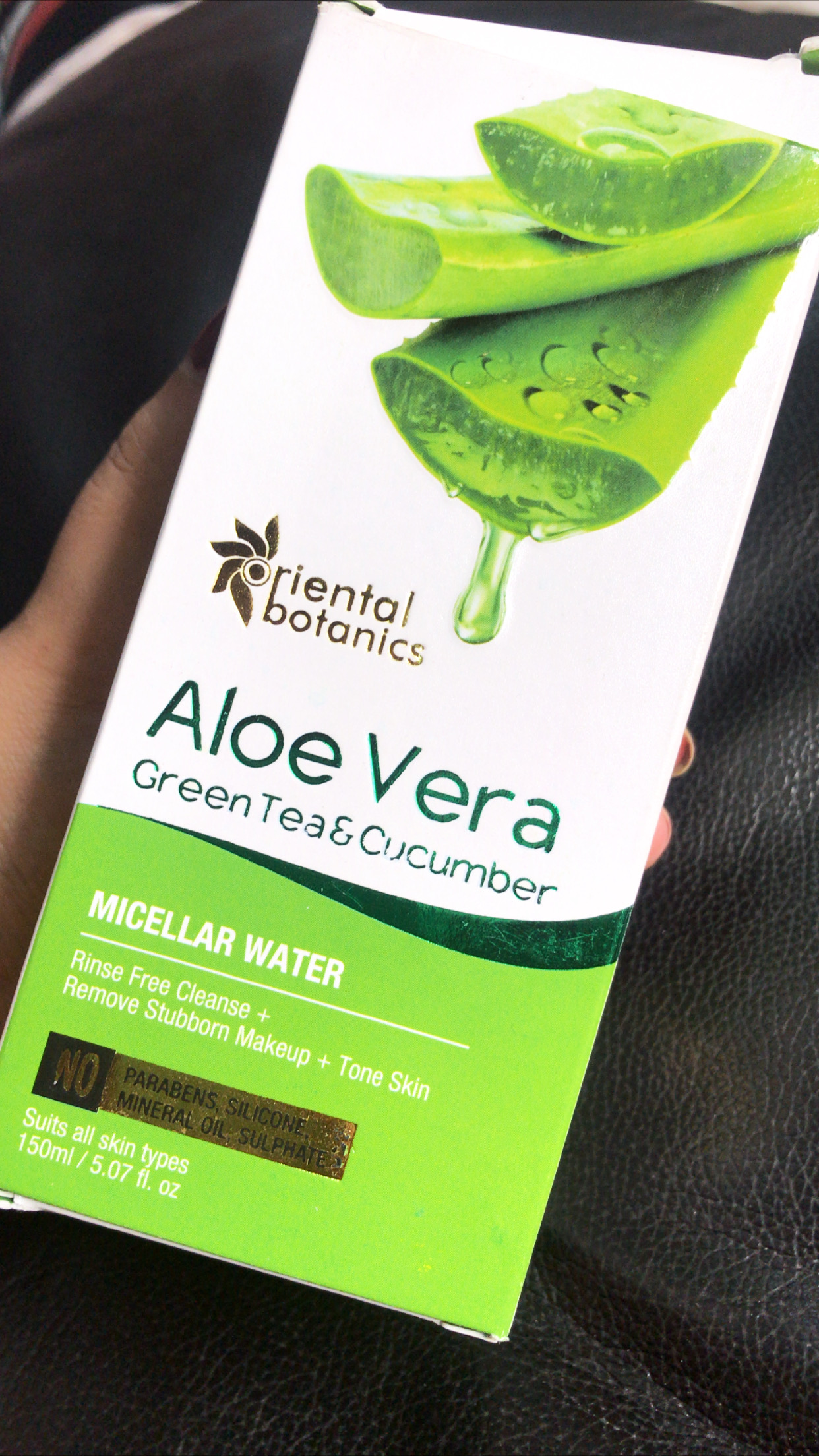 Oriental Botanics Aloe Vera, Green Tea & Cucumber Face Toner pic 1-Highly Recommended-By himanshiahuja