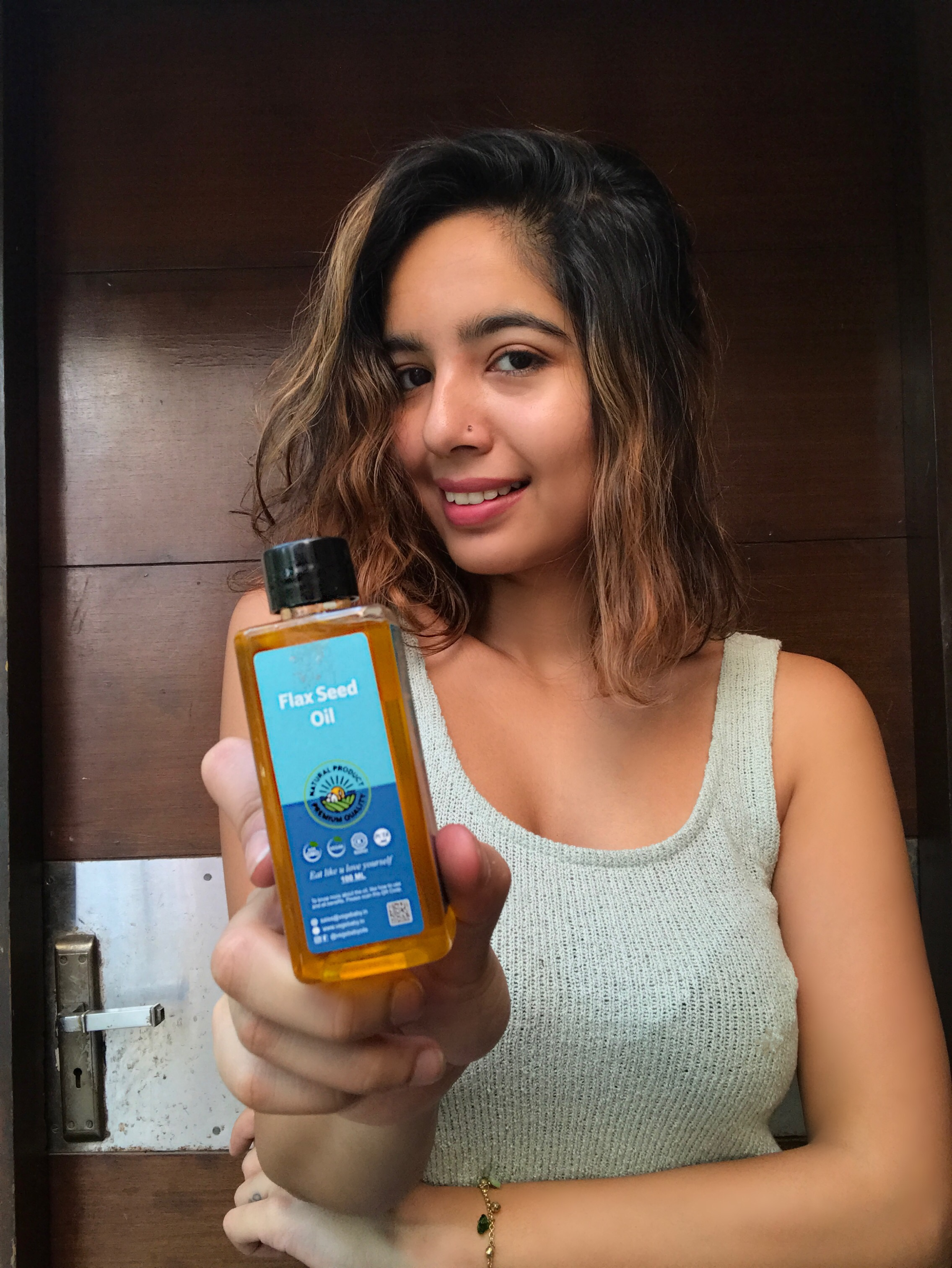 Vegebaby Natural Cold Pressed Extra Virgin Flaxseed Oil-Pamper your skin-By simran_patial