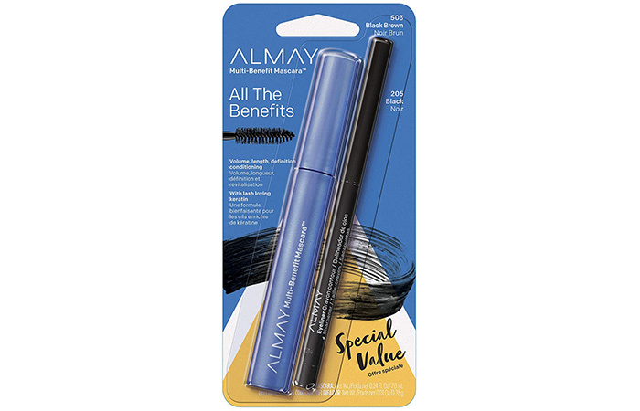ALMAY Multi-Benefit Mascara and Eyeliner Duo - Black Brown And Black