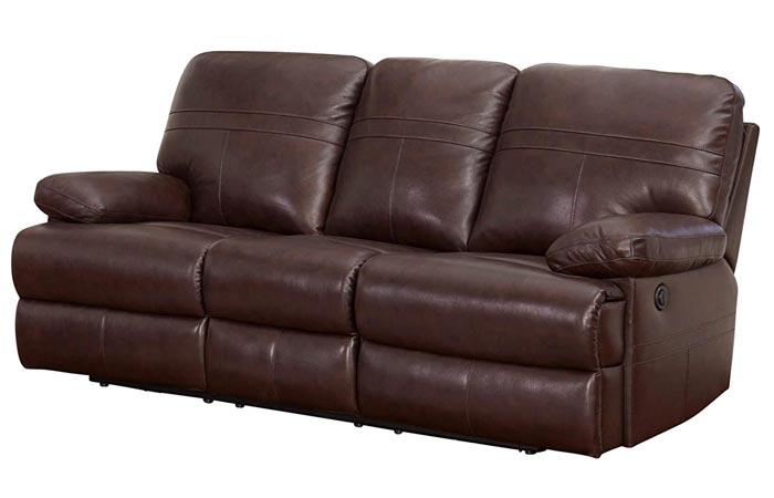 Abbyson Living Top Grain Leather Power Reclining Sofa