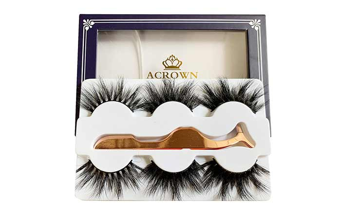Alicrown Hair Acrown 3D 20mm Mink Strip Eyelashes