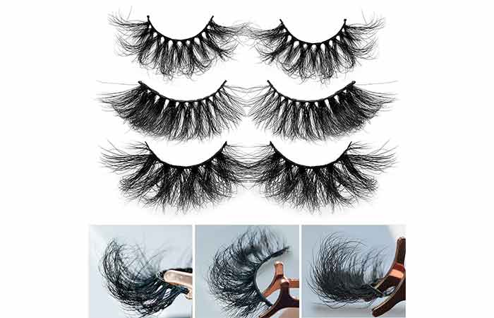 Alicrown Hair Acrown 5D 25mm Mink Strip Eyelashes