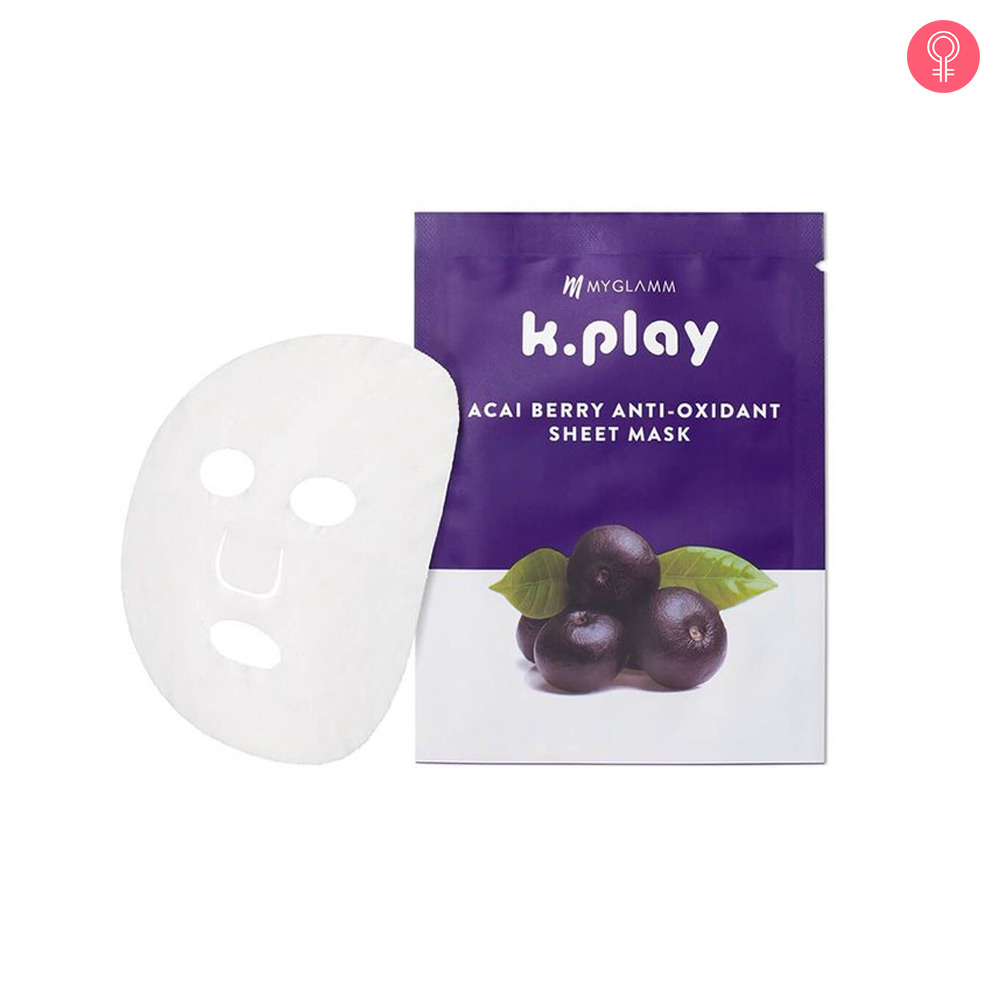 MyGlamm K.Play Acai Berry Anti-Oxidant Sheet Mask