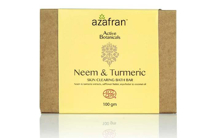 Azafran Organics Neem Turmeric Clear Skin Clearing Bath Bar