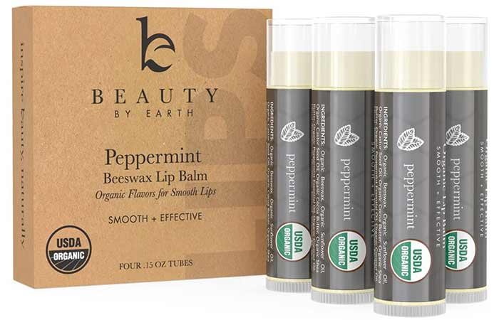 Beauty By Earth Peppermint Beeswax Lip Balm