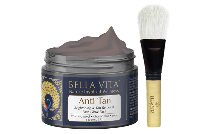 Bela Vita Anti-Tan Brightening and Tan Removal Face Glow Pack