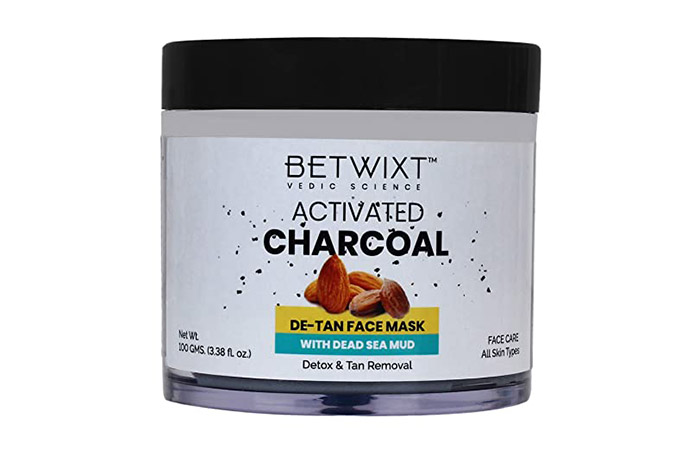 Betwixt Activated Charcoal D-Tan Face Mask