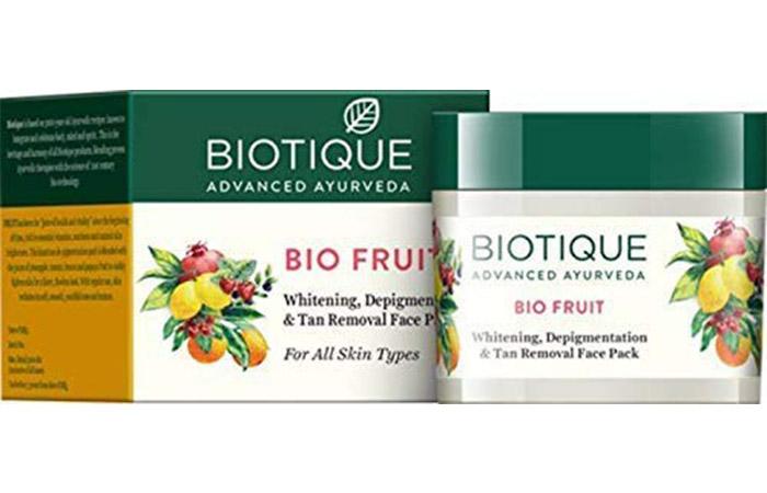 Biotic Bio Fruit Whitening, De-Pigmentation and Tan Removal Face Pack