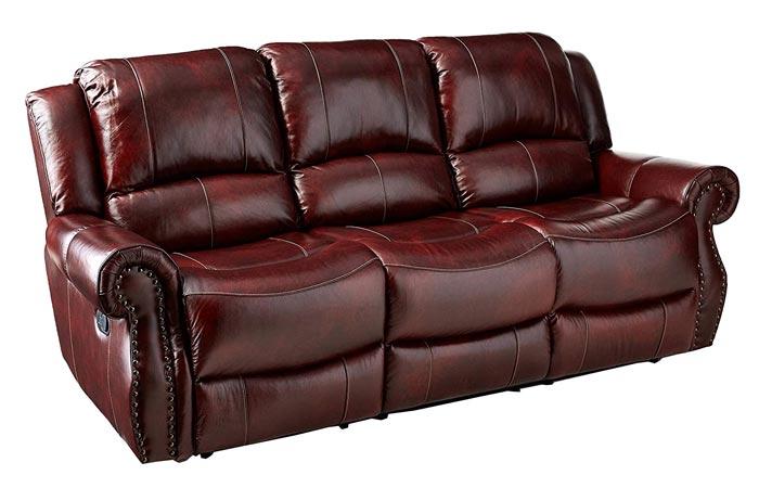 Cambridge Telluride Leather Double Reclining Sofa