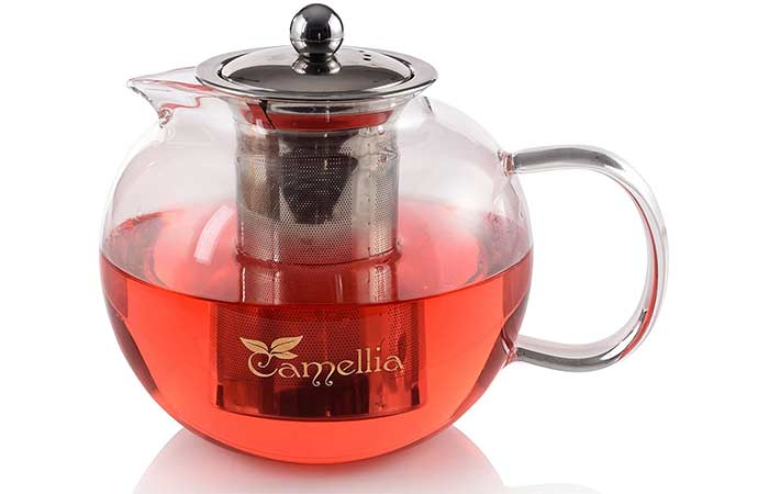 Camellia Teapot With Removable Stainless Steel Infuser