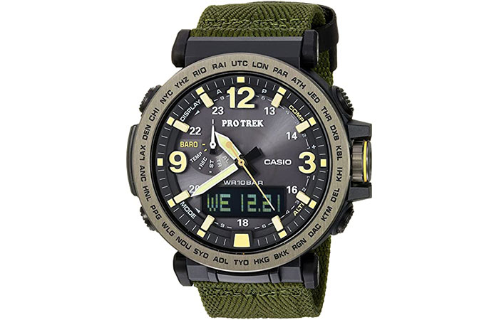 Casio Men's 'PRO TREK' Quartz Resin and Cloth Casual Watch
