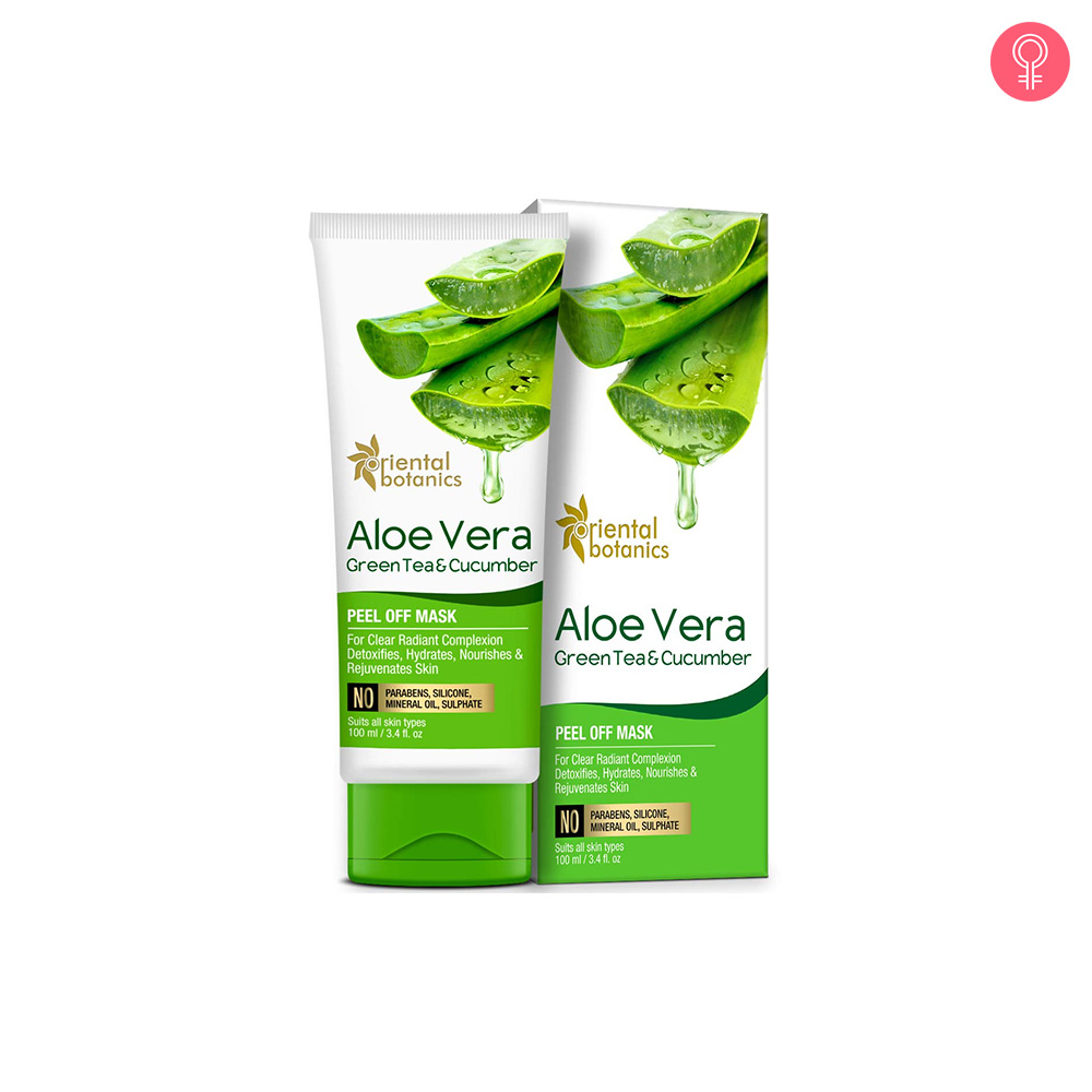 Oriental Botanics Aloe Vera, Green Tea & Cucumber Peel Off Mask