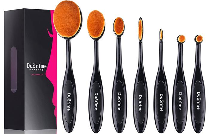 Duorime Classic 7pcs Oval Makeup Brush Set