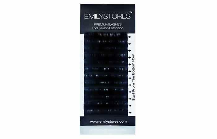 EMILYSTORES Premium Lashes Individual Mink Eyelash