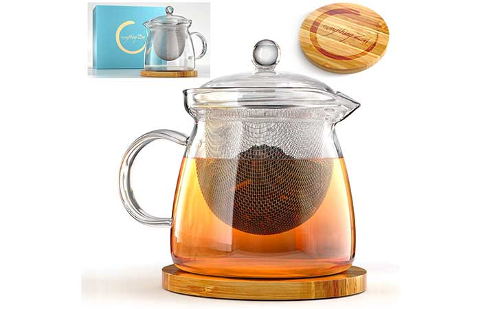 Everything Zen Glass Teapot with Infuser