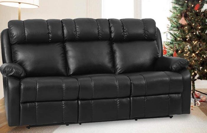 FDW Recliner PU Leather Sofa
