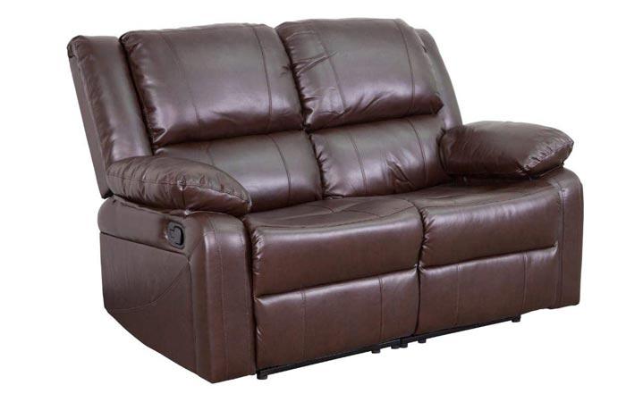 Flash Furniture Brown Leather Loveseat Sofa