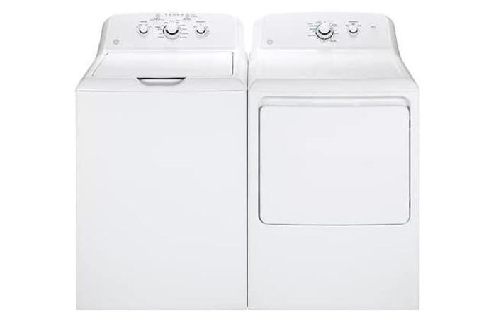 GE White Laundry Pair