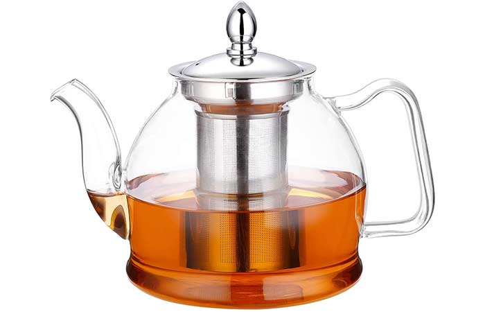 Hiware Glass Teapot With Removable Infuser